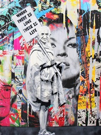 ghandi by mr. brainwash