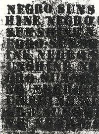 study for negro sunshine #53 by glenn ligon