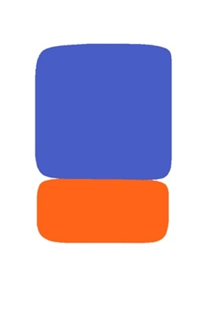 blue over orange by ellsworth kelly