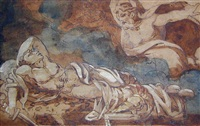 le songe d'enee (the dream of aeneas) by théodore géricault