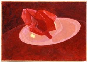 imaginary still life (rose painting) by naum gabo