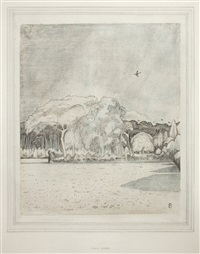 the field before the wood by paul nash