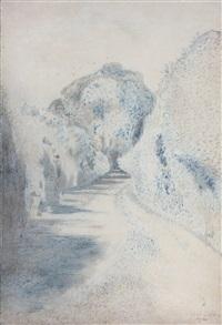 a lane in blue by paul nash