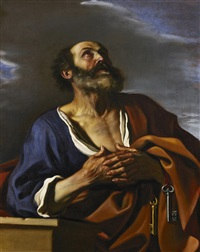 the penitent st peter by guercino