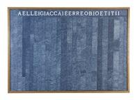 aelleigiaccaieerreobioetitii by alighiero boetti