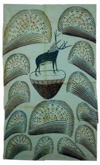 untitled (stag on mound with fireworks) by martín ramírez