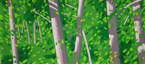 forest woodcut by alex katz