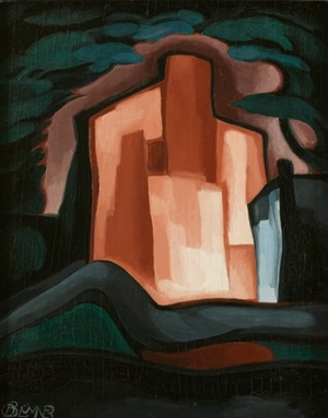 a house in the night by oscar florianus bluemner