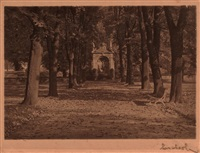 autumn: a path in prague castle gardens by josef sudek