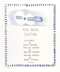 the blue guitar by david hockney