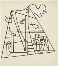 untitled (nautical forms) by stuart davis