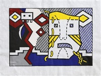 american indian theme v (c. 164) by roy lichtenstein