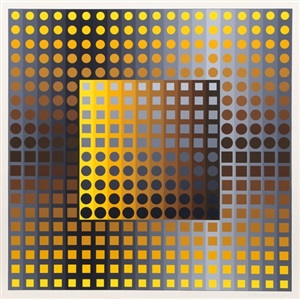 untitled from permutations 51 by victor vasarely