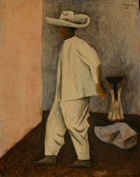 untitled (campesino y mujer) by rufino tamayo
