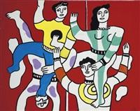 les quatre acrobates by fernand léger