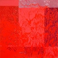 artificial landscape- geometric red by kim jongsook