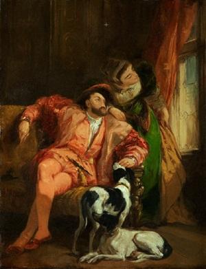 françois ier et la reine de navarre by richard parkes bonington