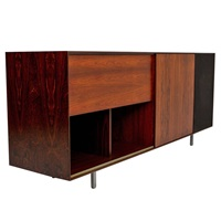 rosewood stereo cabinet by george nelson