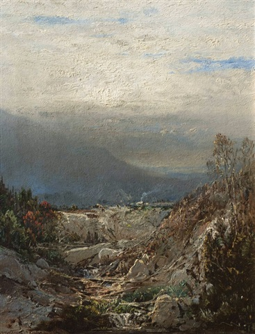 on the road to the glen house, new hampshire by william louis sonntag