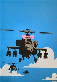 happy choppers (rare signed artist's proof) by banksy