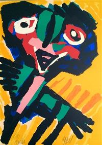 yellow personage by karel appel
