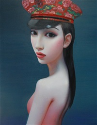 untitled (beijing girl series) by zhang xiangming