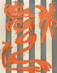 dust on a white shirt (stripes) by charline von heyl
