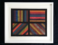 bands in color in four directions by sol lewitt
