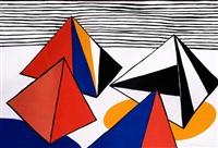 pyramids in a landscape by alexander calder