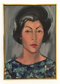 portrait of jean sherr by elaine de kooning