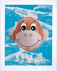 monkey train, blue by jeff koons