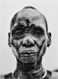 dinka man, southern sudan, 2006 by sebastião salgado