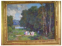 picnic in the woods by edward henry potthast