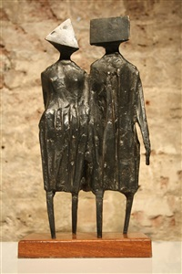 maquette for walking couple by lynn chadwick