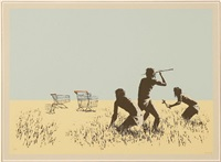 trolley hunters end paper by banksy