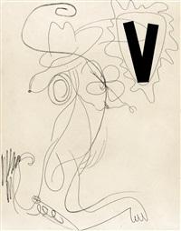 snoopy (black v) by charline von heyl