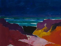 seascape with dunes by donald hamilton fraser