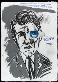 no title (the reader cannot) by raymond pettibon