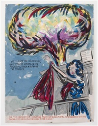 no title (she turned, the) by raymond pettibon