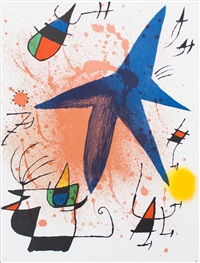 lot 307: litografia original i by joan miró