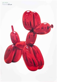 lot 206: balloon dog (red) by jeff koons