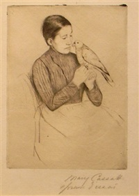 the parrot by mary cassatt