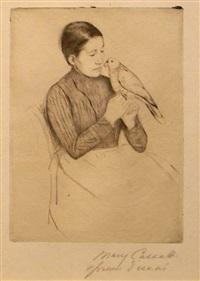 the parrot by mary cassatt
