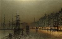greenock harbour by night by john atkinson grimshaw