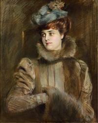 portrait of madame chéruit by paul césar helleu
