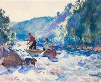 down the rapids by frank weston benson