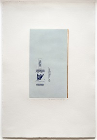 gauloises bleues (raw umber edge) by robert motherwell