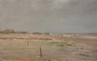 brighton beach, long island by william merritt chase