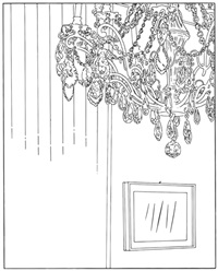 chandelier (traced) by louise lawler