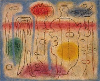 callot gewidmet ii, pantomime by willi baumeister